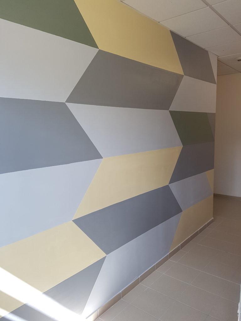 Peindre Triangle Sur Mur peinture murale moderne – marlia dÉcoration