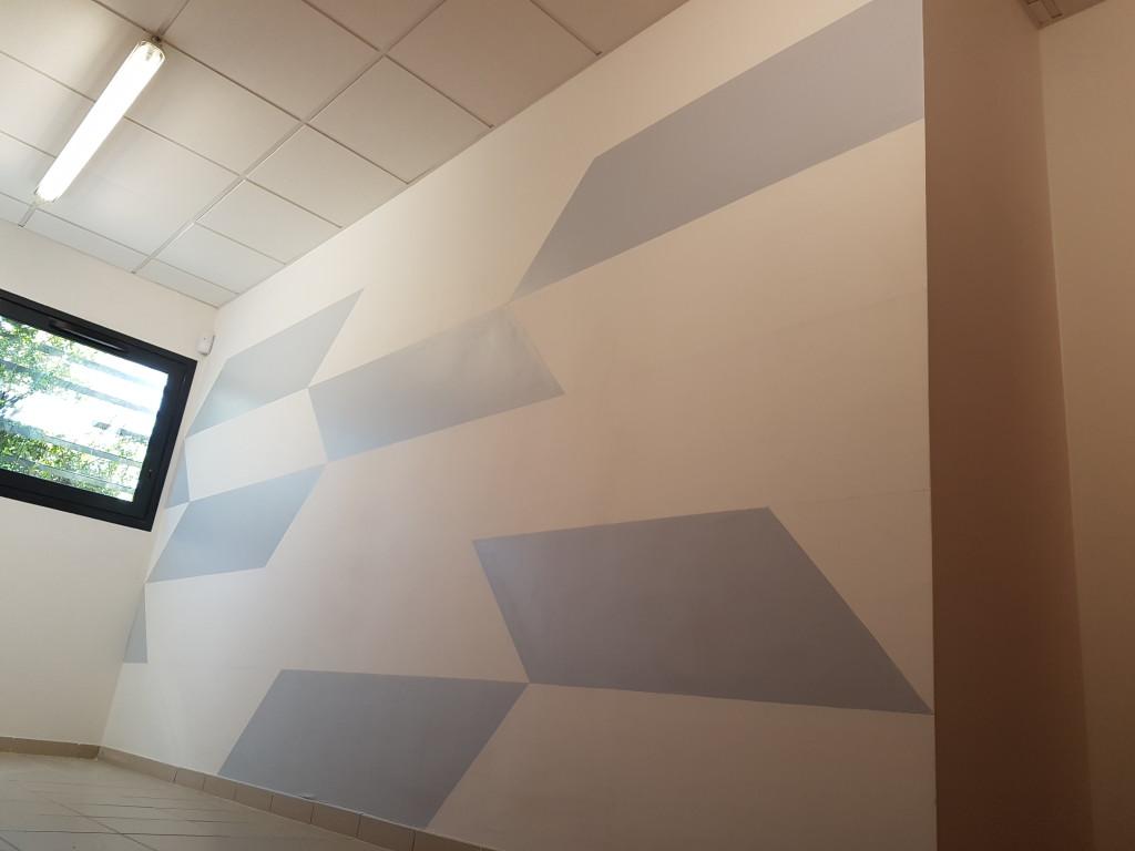 Peinture murale moderne marlia d coration - Peinture murale moderne ...